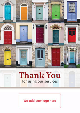 personalised client thank you cards