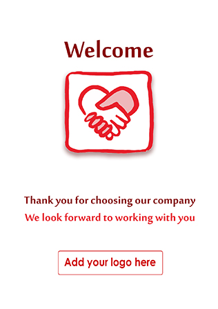 Personalised welcome cards