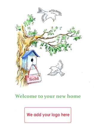 Personalised new home cards