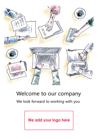 Personalised welcome card